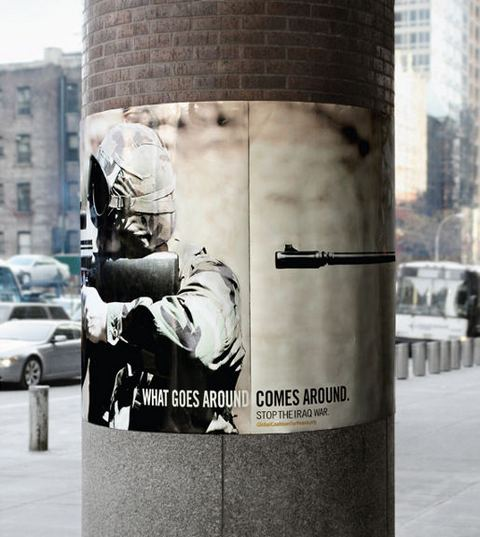 What Goes Around Comes Around - rifle poster