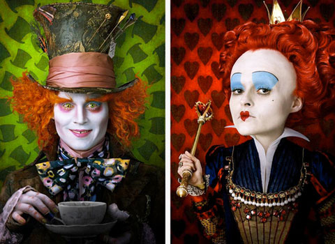 Tim Burton's Alice in Wonderland - Johnny Depp & Helena Bonham Carter