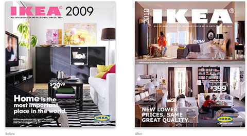 Ikea menja font