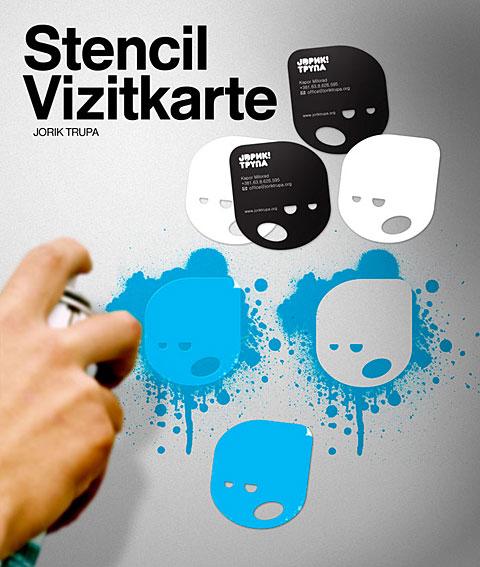 Peter Gregson - Jorick stencil vizitkarte
