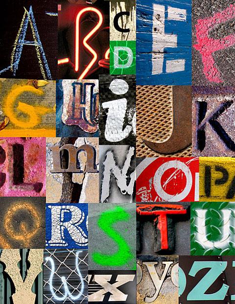 Found Alphabets by Jen Quinn